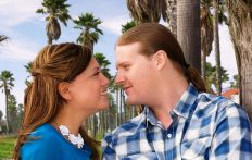This is a picture of me and my husband.  It was one of our engagement photos.
