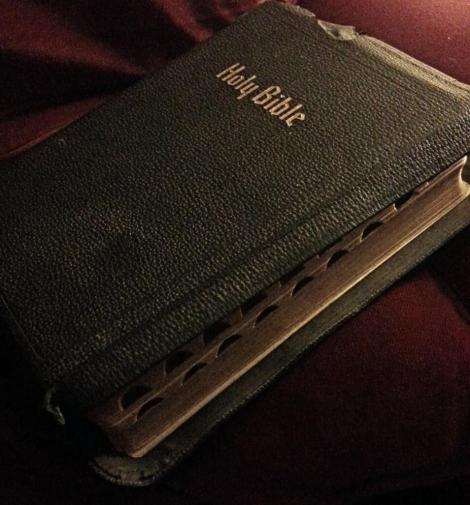 The aged Bible that was given to me as a wedding gift.