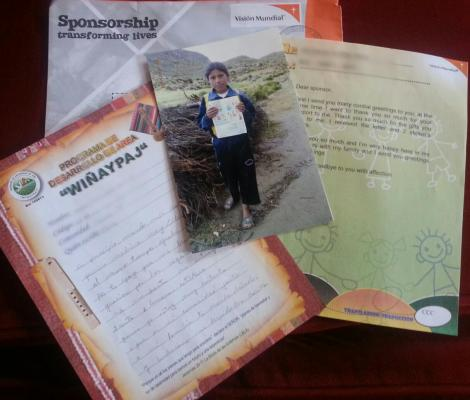 I like how World Vision includes a picture showing your sponsored child with the letter you wrote.