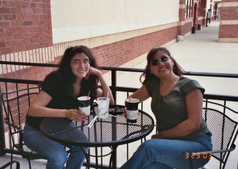 Me and Cynce enjoying a cup of coffee at Joe Mugg's, the coffee shop attached to Books-A-Million.